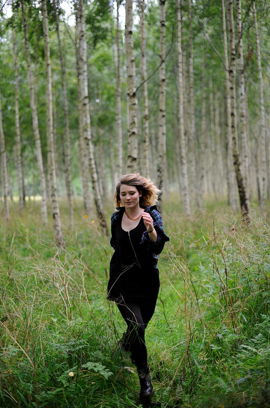 WHAT I WEAR – Sweden Forest & Black Dress