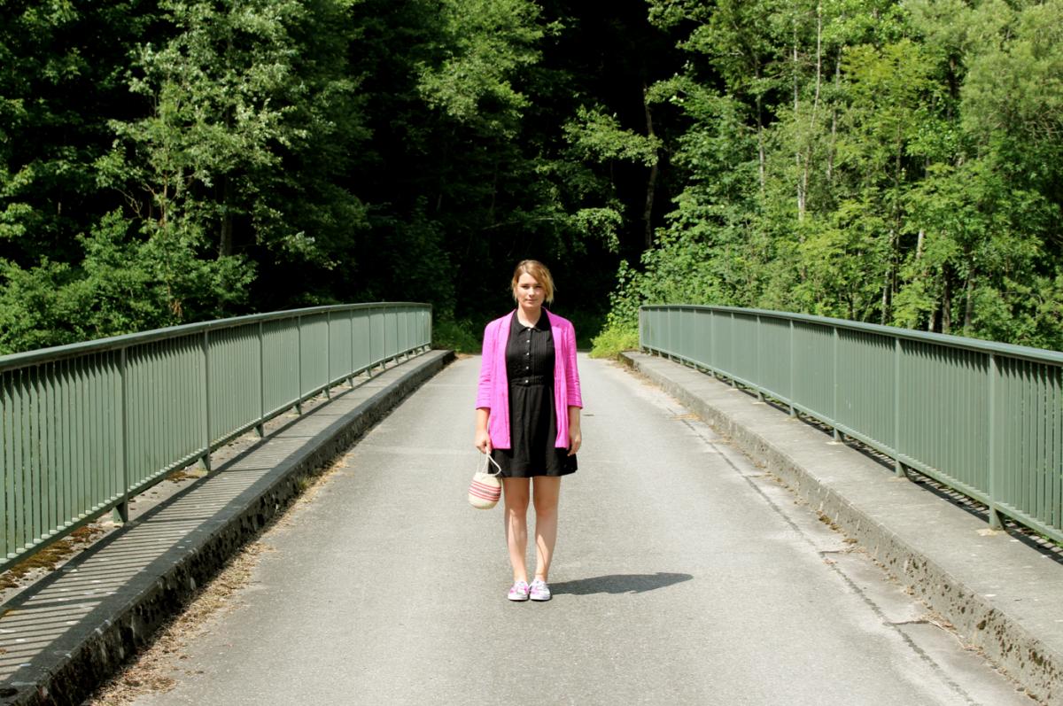 WHAT I WEAR: Cut-Out Element Eden Dress & A Pink Blazer