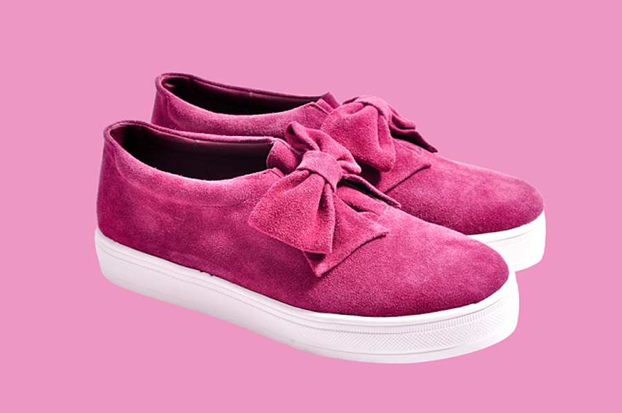 F-Troupe Suede Cherry Bow Sneaker