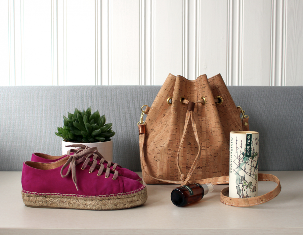 LOVELY THINGS: Cork Bag & Pink Shoes