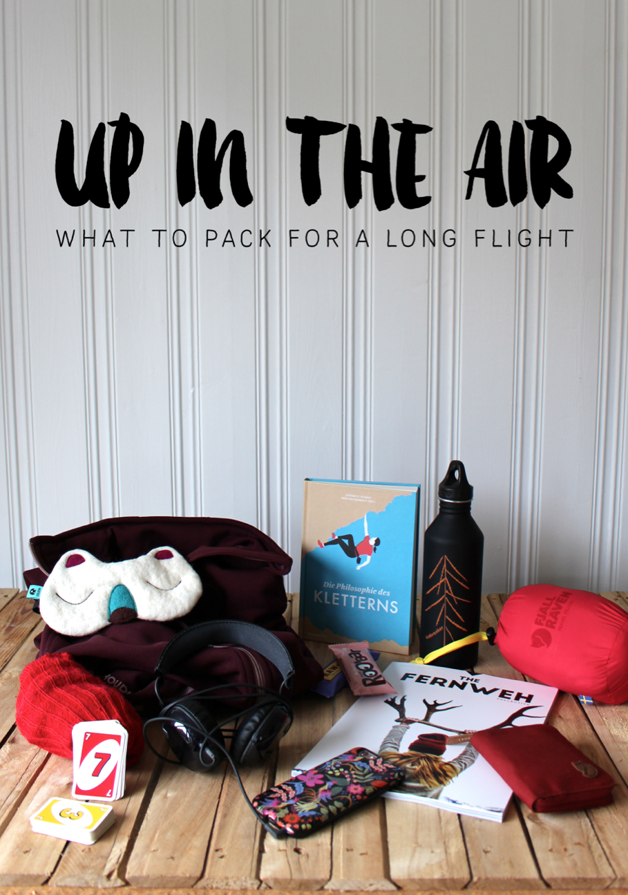 What to pack for a long flight