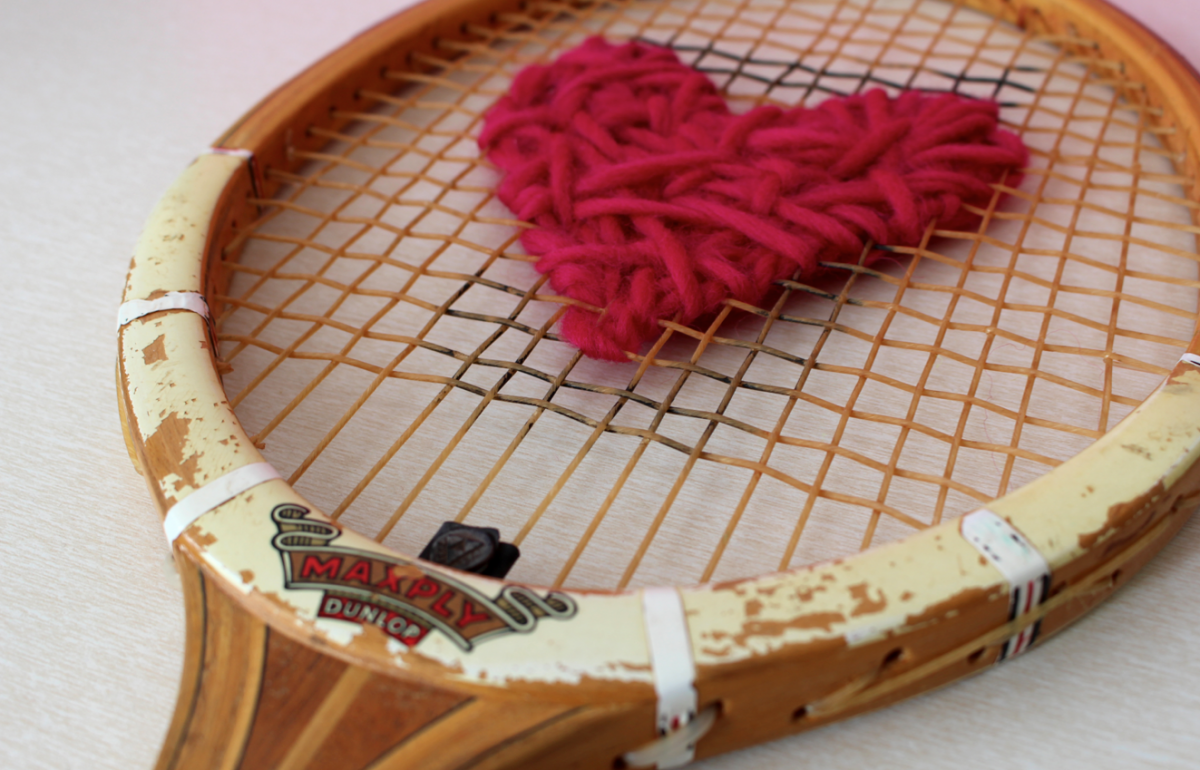 DIY – Tennis racket with a heart