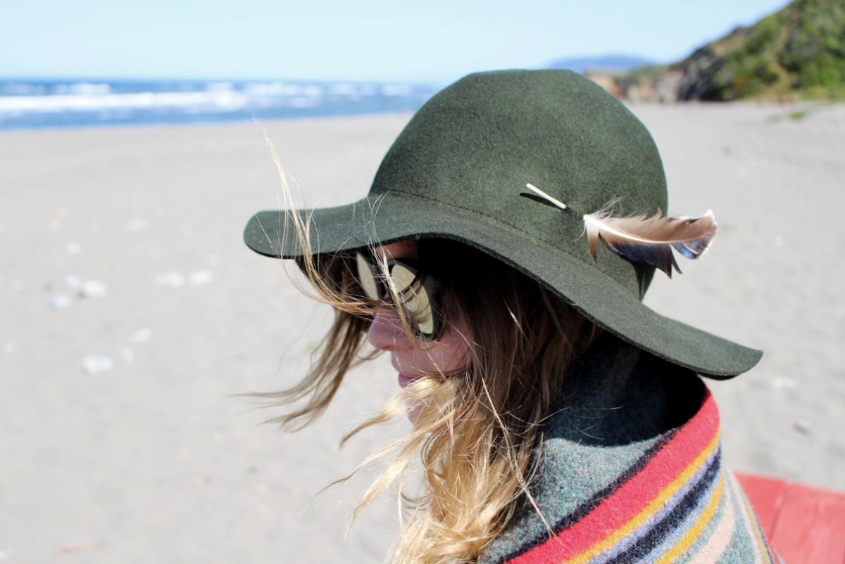 What I wear – A hat & a Blanket