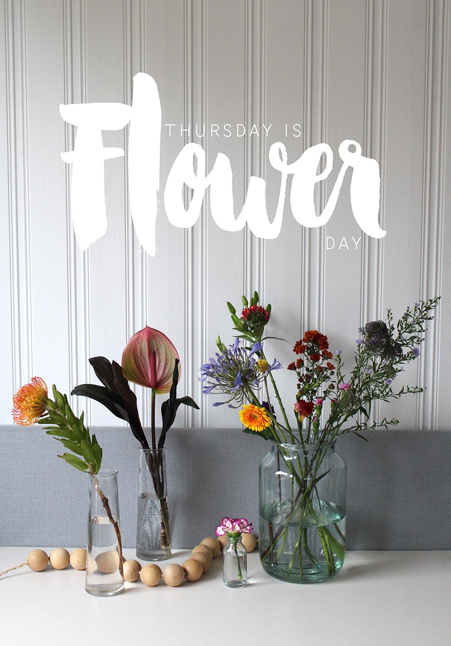 Thursday is Flower day!