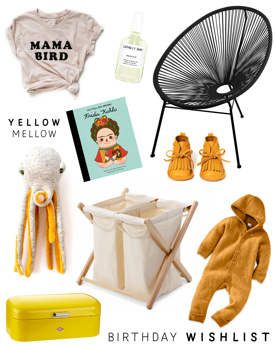 "Birthday Wishlist for a ""mom-to-be"""