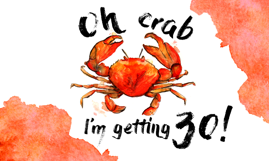 Birthday Wishlist – crab, I'm getting 30!