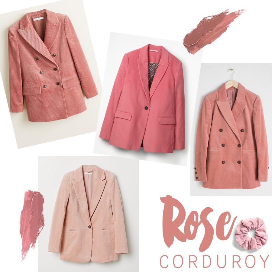 Rose Corduroy Blazer