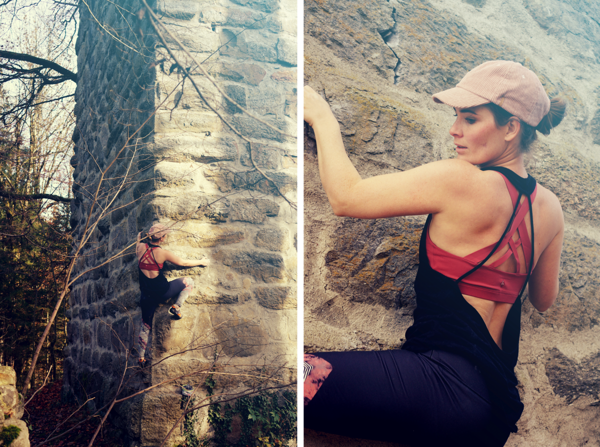 Bouldering with prAna